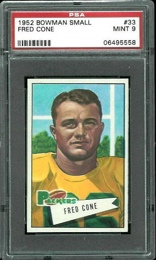 1952 Bowman Small #33 - Fred Cone - PSA 9