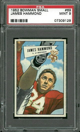 1952 Bowman Small #69 - James Hammond - PSA 9