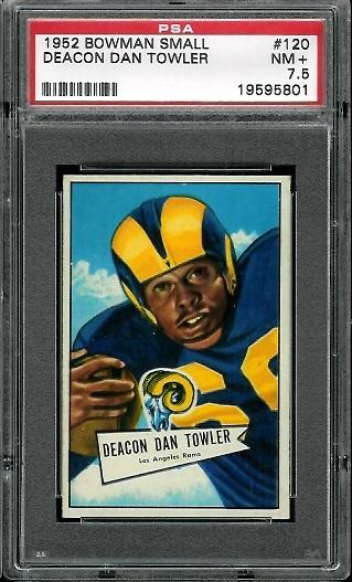1952 Bowman Small #120 - Dan Towler - PSA 7.5