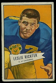 1952 Bowman Small #61 - Les Richter - vg