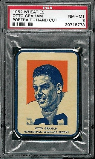 1952 Wheaties #6 - Otto Graham Portrait - PSA 8