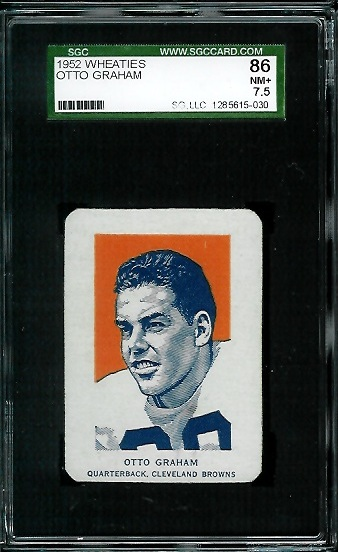 1952 Wheaties #6 - Otto Graham Portrait - SGC 86