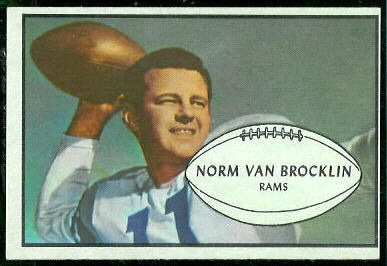 1953 Bowman #11 - Norm Van Brocklin - nm oc