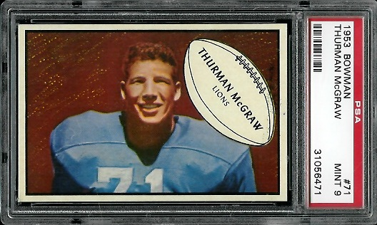 1953 Bowman #71 - Thurman McGraw - PSA 9
