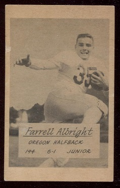 1953 Oregon #1 - Farrell Albright - good