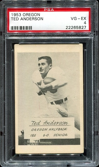 1953 Oregon #2 - Ted Anderson - PSA 4