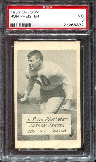1953 Oregon #12 - Ron Pheister - PSA 3