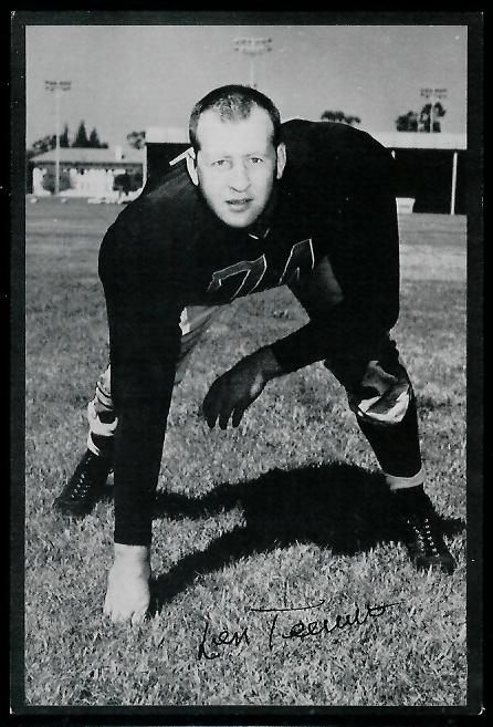 1953 Rams Team Issue #29 - Len Teeuws - exmt