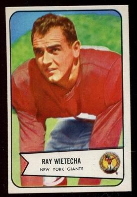 1954 Bowman #31 - Ray Wietecha - ex