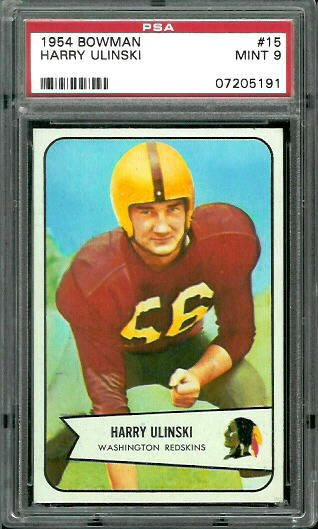 1954 Bowman #15 - Harry Ulinski - PSA 9