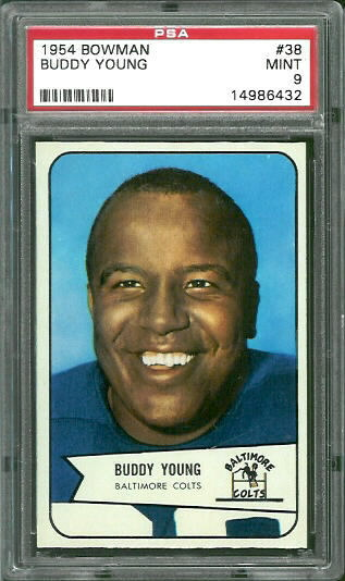 1954 Bowman #38 - Buddy Young - PSA 9