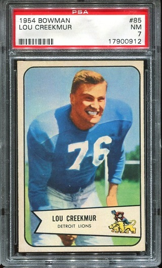 1954 Bowman #85 - Lou Creekmur - PSA 7