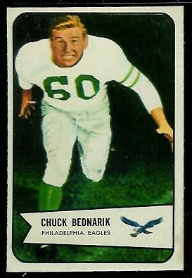 1954 Bowman #57 - Chuck Bednarik - ex