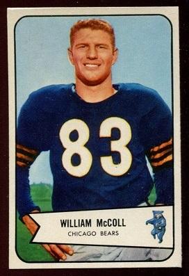 1954 Bowman #59 - Bill McColl - vg-ex