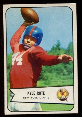 1954 Bowman #7 - Kyle Rote - nm