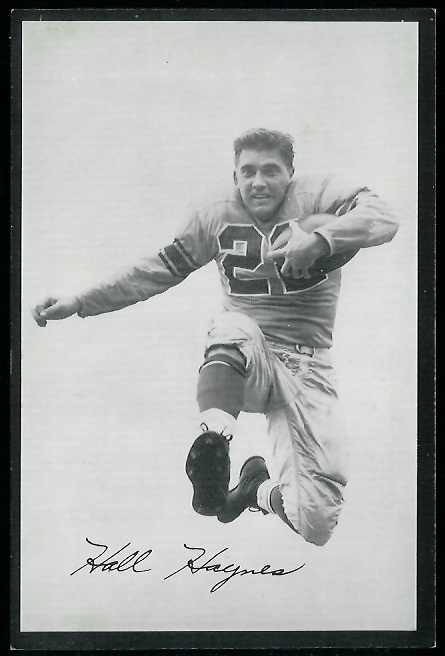 1954 Rams Team Issue #10 - Hall Haynes - exmt