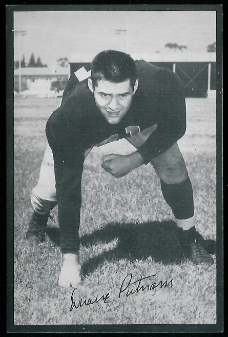 1954 Rams Team Issue #22 - Duane Putnam - exmt