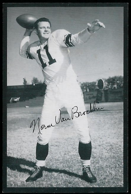 1954 Rams Team Issue #31 - Norm Van Brocklin - exmt