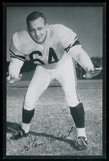 1954 Rams Team Issue #34 - Stan West - nm
