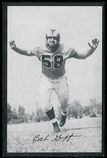 1954 Rams Team Issue #8 - Bob Griffin - exmt