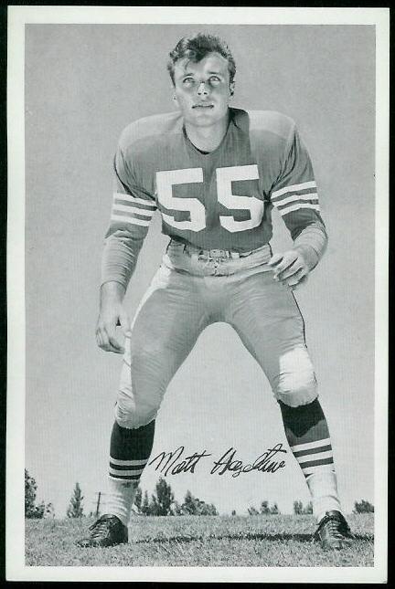 1955 49ers Team Issue #14 - Matt Hazeltine - exmt