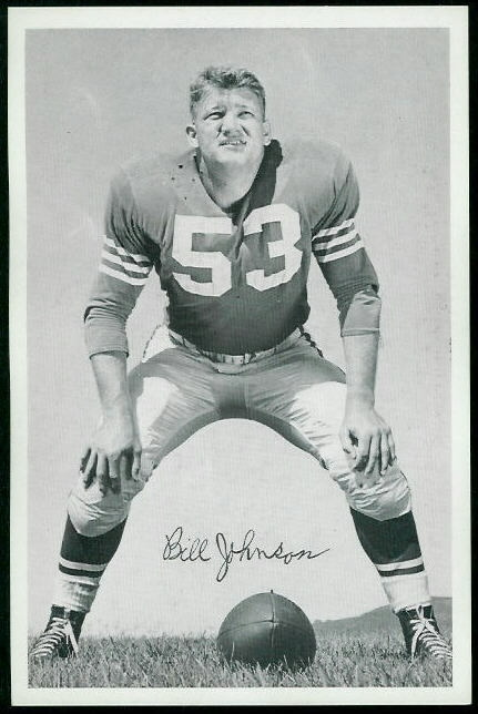 1955 49ers Team Issue #17 - Bill Johnson - exmt