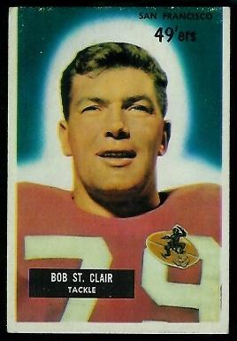1955 Bowman #101 - Bob St. Clair - ex miscut