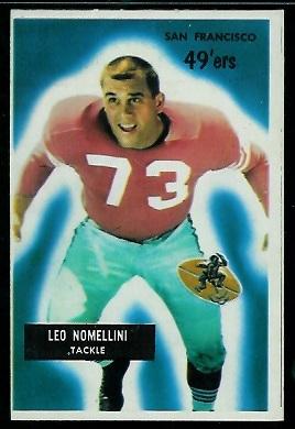 1955 Bowman #104 - Leo Nomellini - nm oc