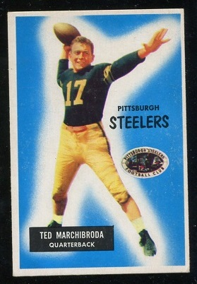1955 Bowman #106 - Ted Marchibroda - ex
