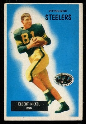 1955 Bowman #124 - Elbert Nickel - vg-ex