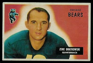 1955 Bowman #154 - Zeke Bratkowski - exmt