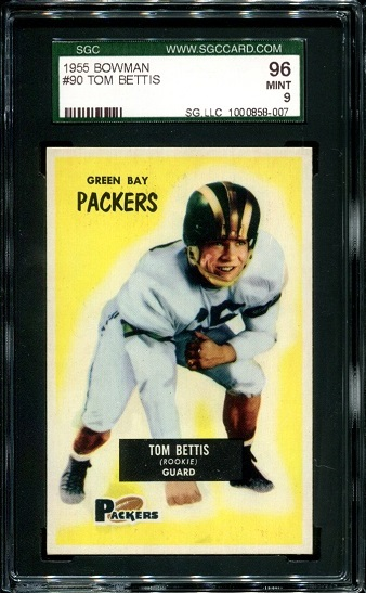 1955 Bowman #90 - Tom Bettis - SGC 96