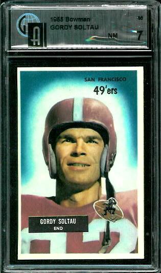1955 Bowman #66 - Gordon Soltau - GAI 7