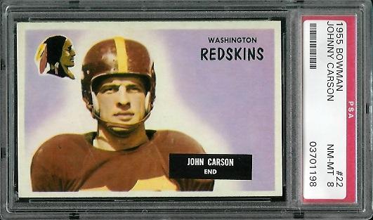 1955 Bowman #22 - John Carson - PSA 8