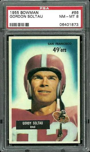 1955 Bowman #66 - Gordon Soltau - PSA 8