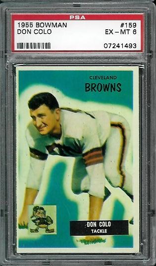 1955 Bowman #159 - Don Colo - PSA 6