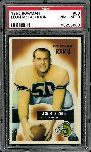 1955 Bowman #88 - Leon McLaughlin - PSA 8