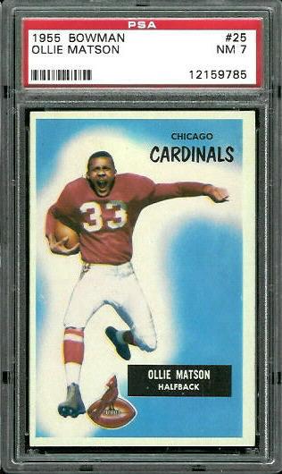 1955 Bowman #25 - Ollie Matson - PSA 7