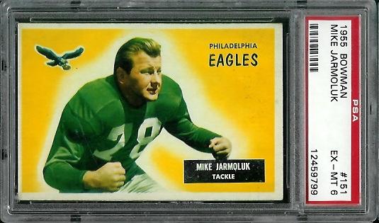 1955 Bowman #151 - Mike Jarmoluk - PSA 6