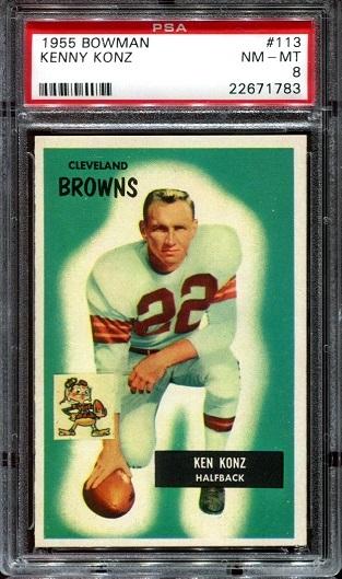 1955 Bowman #113 - Ken Konz - PSA 8