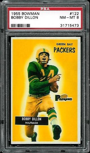 1955 Bowman #122 - Bobby Dillon - PSA 8