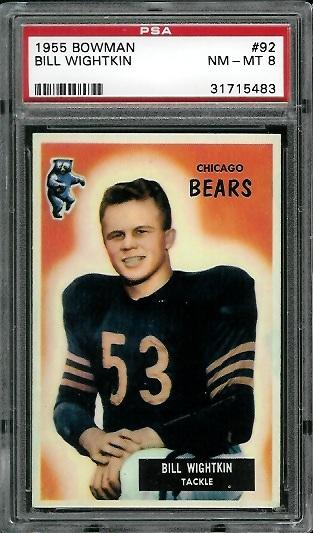 1955 Bowman #92 - Bill Wightkin - PSA 8