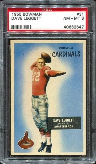 1955 Bowman #31 - Dave Leggett - PSA 8