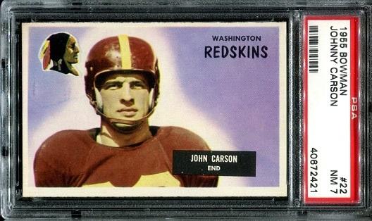1955 Bowman #22 - John Carson - PSA 7