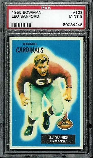 1955 Bowman #123 - Leo Sanford - PSA 9