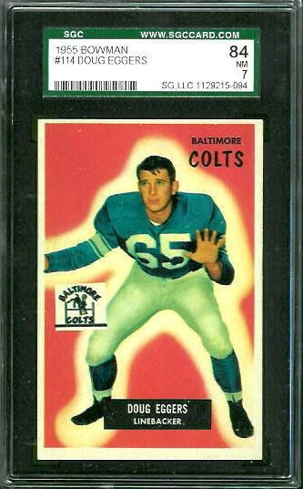 1955 Bowman #114 - Doug Eggers - SGC 84