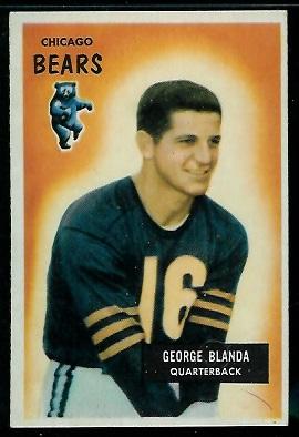 1955 Bowman #62 - George Blanda - exmt
