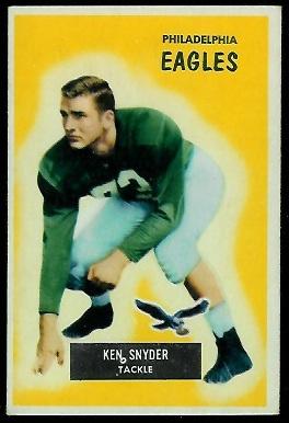 1955 Bowman #63 - Ken Snyder - exmt