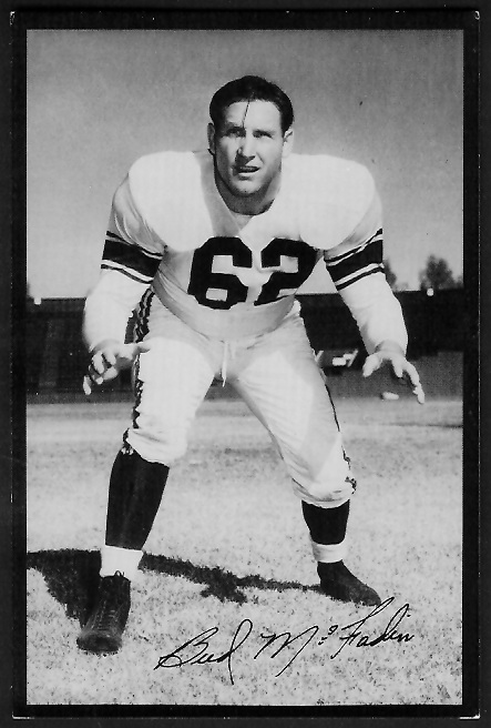 1955 Rams Team Issue #21 - Bud McFadin - ex