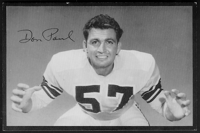 1955 Rams Team Issue #25 - Don Paul - ex